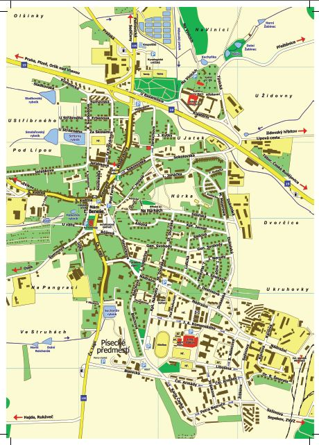 Plan Mesta Mesto Milevsko